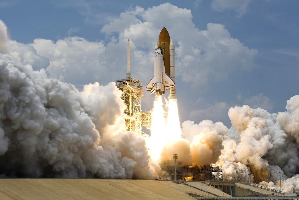 NASA space shuttle launch
